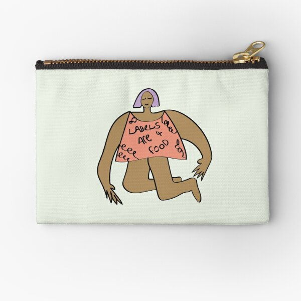 Labels are for Food / Feminism in Pastels Zipper Pouch