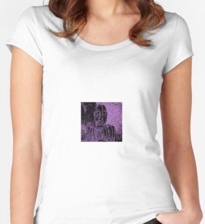 Karma in Lilac Women's Fitted Scoop T-Shirt