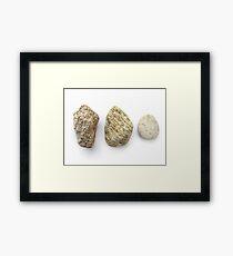 Stone Poem 002 Framed Print