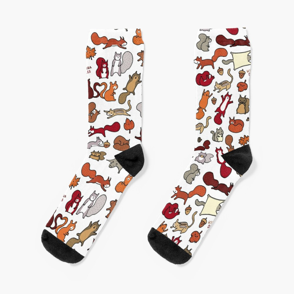 Squirrels in Fall Doodle Socks