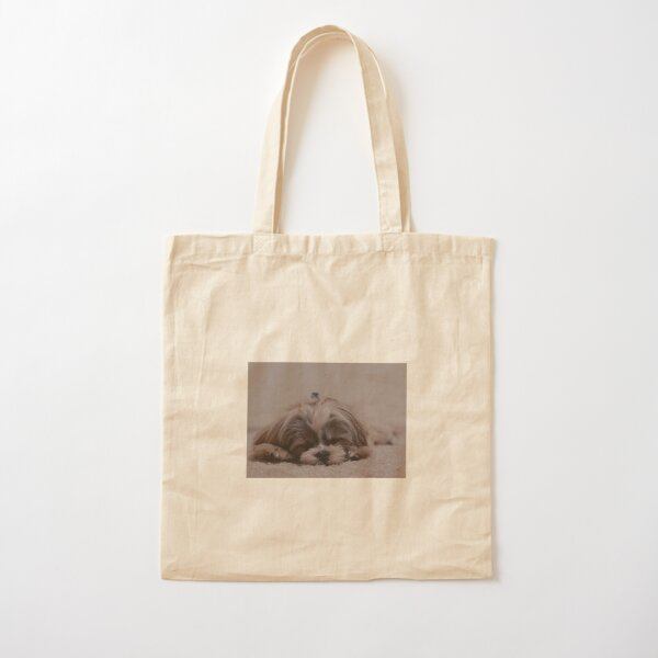 Puppy Love Cotton Tote Bag