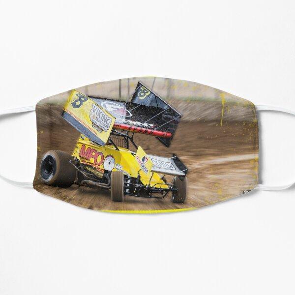 Bright Yellow Sprintcar Flat Mask