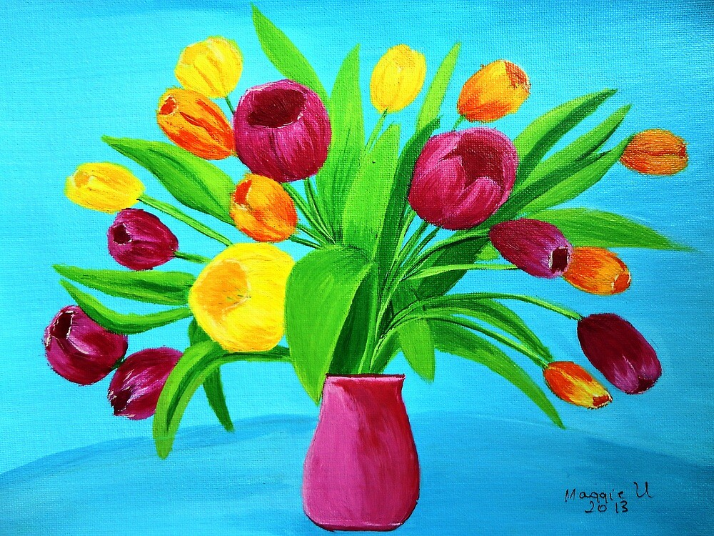 Tulips for Easter  by maggie326