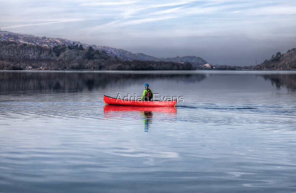 Red Canoe by Adrian Evans