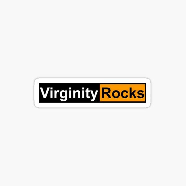 Virginity rocks Sticker