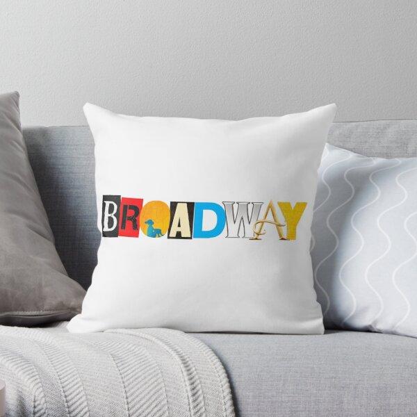 """Broadway"" Show Logo Collection Throw Pillow"