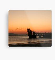 Sunset with Birds, Blackrock, Galway Metal Print