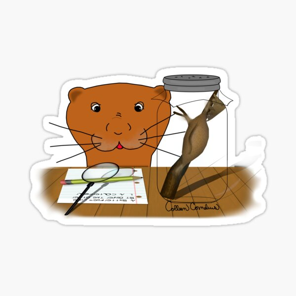 Homeschooling Oliver The Otter - The Cocoon  Glossy Sticker