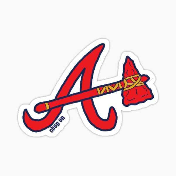 Braves Tomahawk Logo Sticker