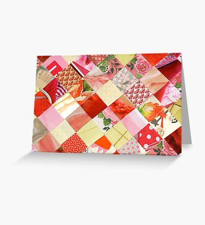 Collagecard: Pink Greeting Card