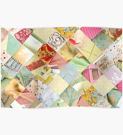 Collagecard: pastels Poster