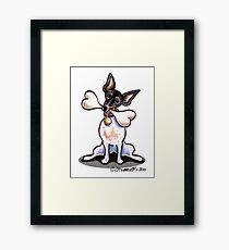 Rat Terrier Big Bone Framed Print