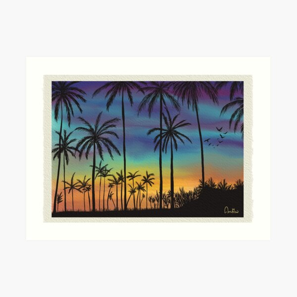 Summer sunset artwork By Annalisa Amato Art Print