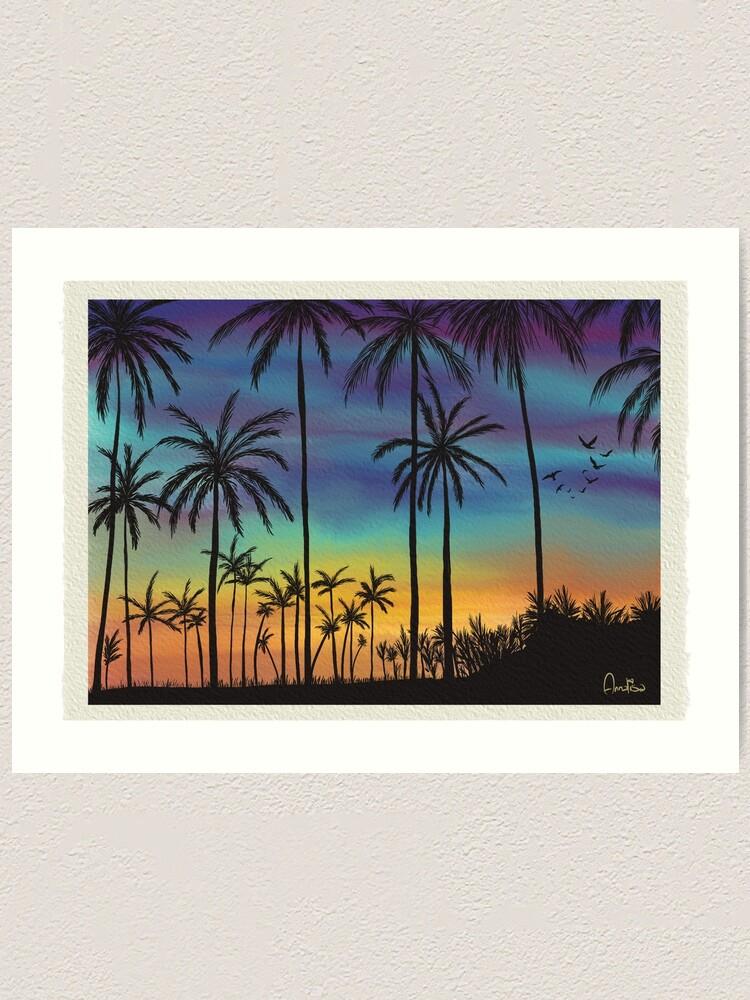Alternate view of Summer sunset artwork By Annalisa Amato Art Print