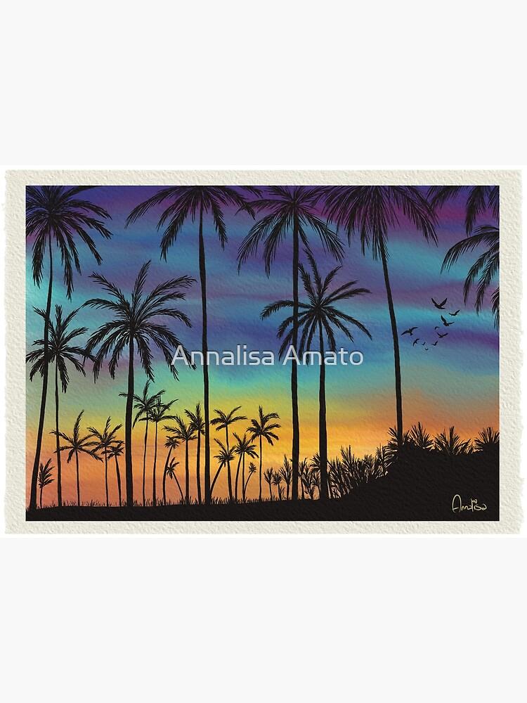 Summer sunset artwork By Annalisa Amato by annalisaamato
