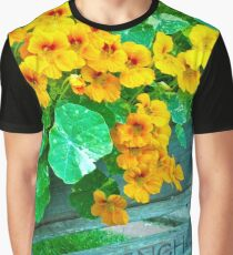 Tubbed Nasturtiums On Bench Graphic T-Shirt