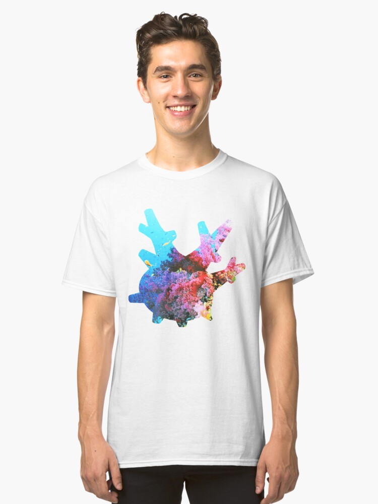 Corsola used Brine Classic T-Shirt Front