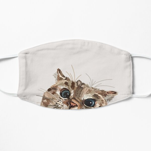 Peeking Cat Flat Mask