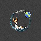 My World My Rat Terrier {dark} by offleashart