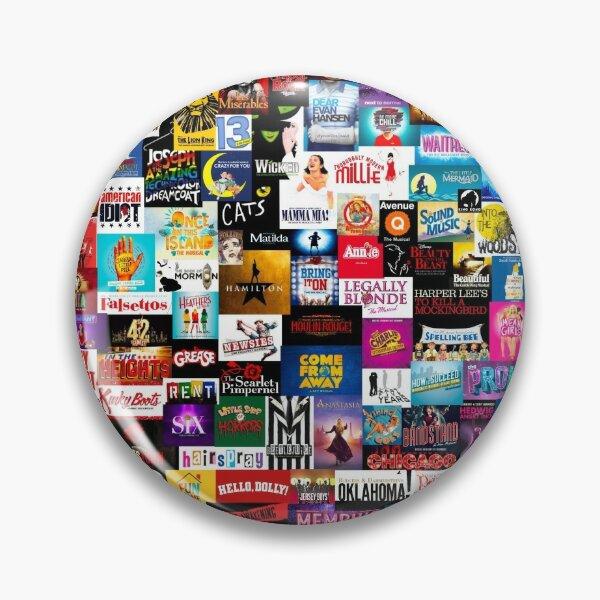 Broadway Show Logo Collage Pin