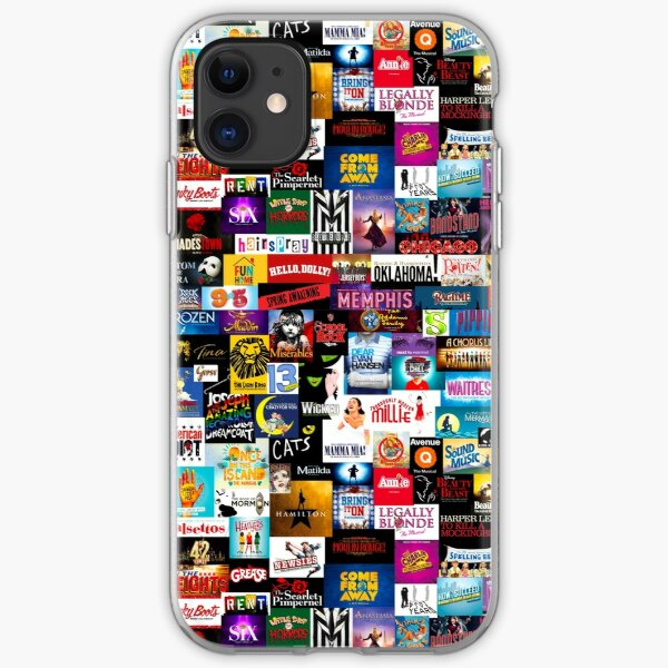 Broadway Show Logo Collage iPhone Soft Case