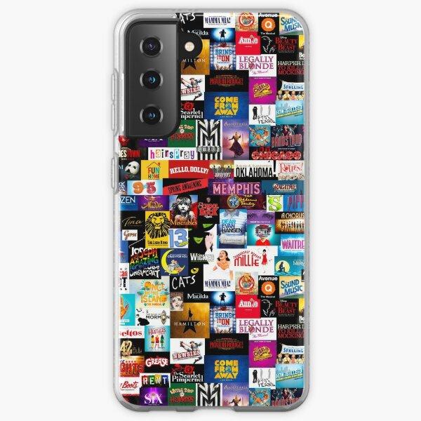 Broadway Show Logo Collage Samsung Galaxy Soft Case