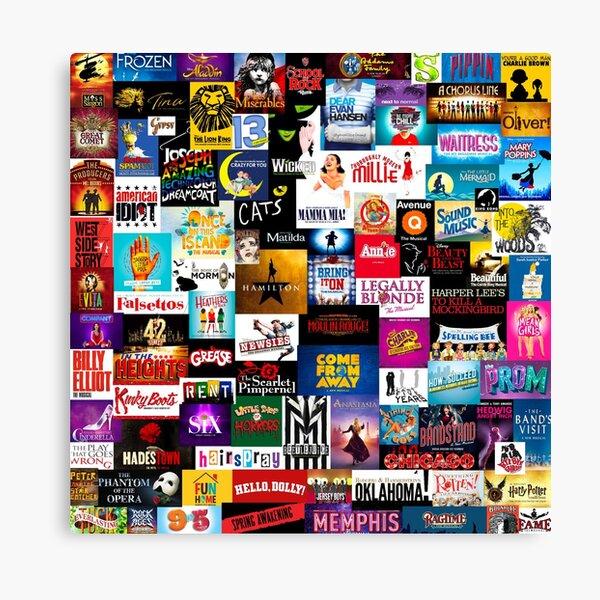 Broadway Show Logo Collage Canvas Print