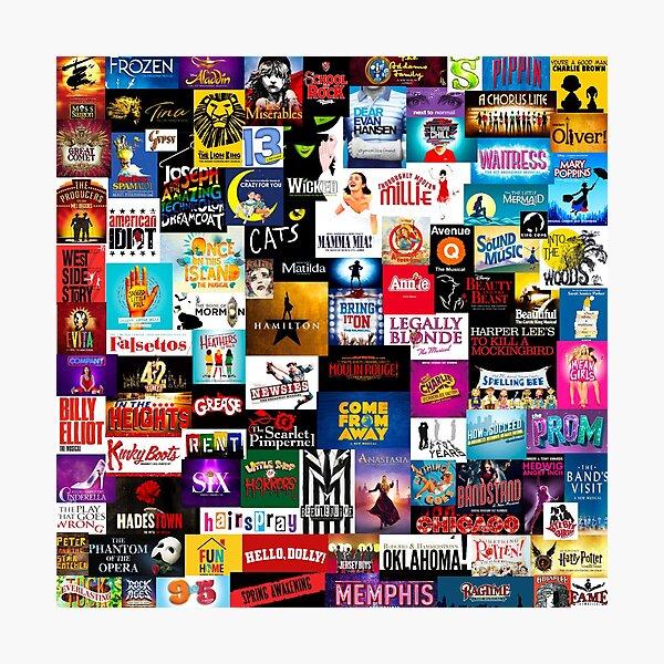 Broadway Show Logo Collage Lámina fotográfica