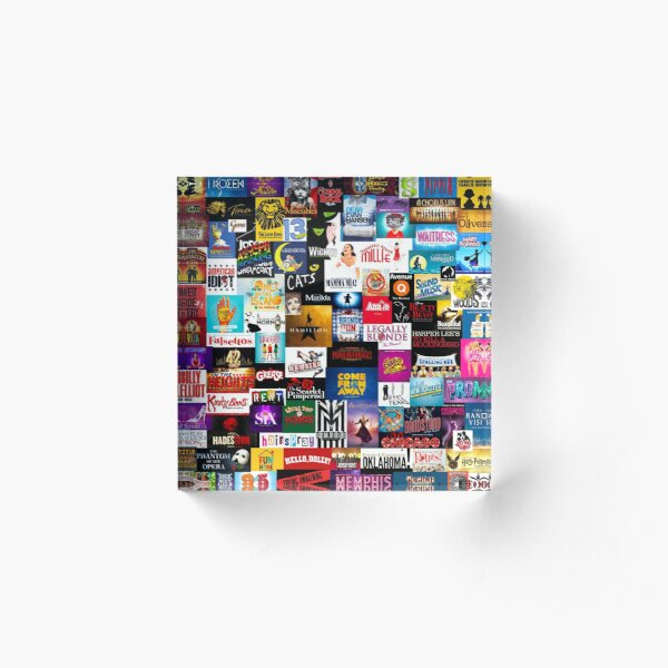 Broadway Show Logo Collage Acrylic Block