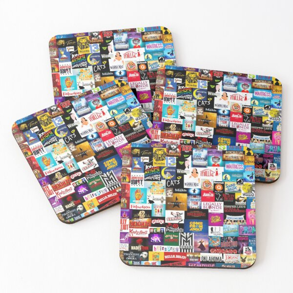 Broadway Show Logo Collage Coasters (Set of 4)