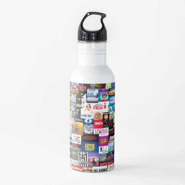 Broadway Show Logo Collage Water Bottle