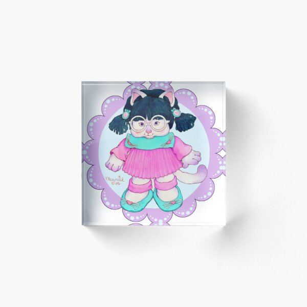 Cameow Cats™ Purr-Point Kitty Scallop Acrylic Block
