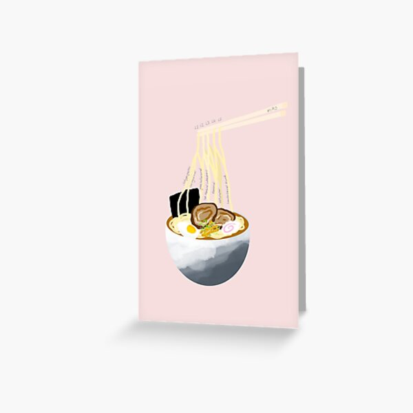Lumbar Plexus Ramen Greeting Card
