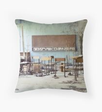 Chernobyl - школа Throw Pillow
