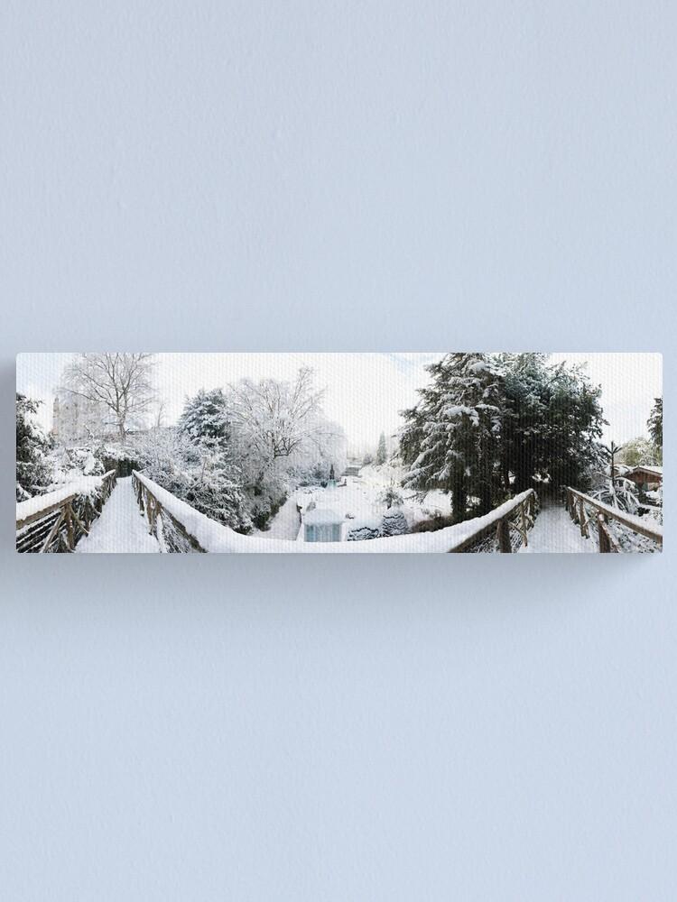 Alternate view of Footbridge Across a Winter Wonderland Canvas Print