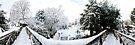 Footbridge Across a Winter Wonderland by Ruski