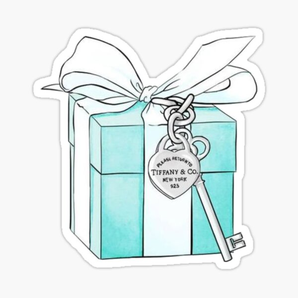 Tiffany Box and Key Sticker