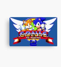 SONIC 2 TITLE SCREEN Canvas Print