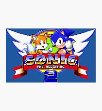 SONIC 2 TITLE SCREEN Photographic Print