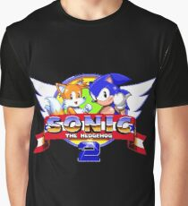 SONIC 2 TITLE SCREEN Graphic T-Shirt