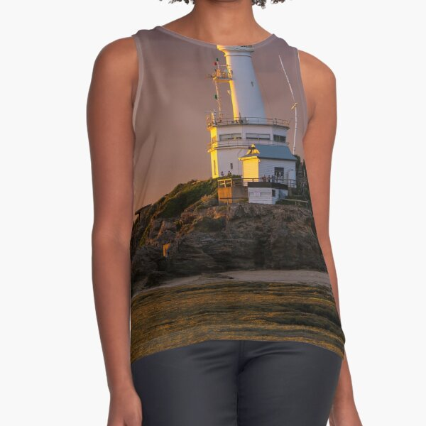 Lighthouse sunset Point Lonsdale Sleeveless Top