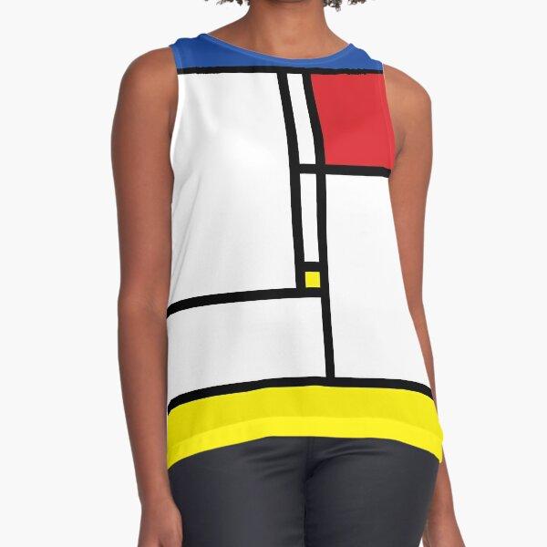 Mondrian Minimalist De Stijl Modern Art © fatfatin Sleeveless Top