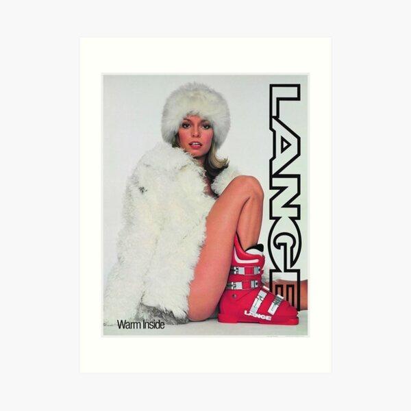 Lange Ski Girl - Warm Inside Art Print