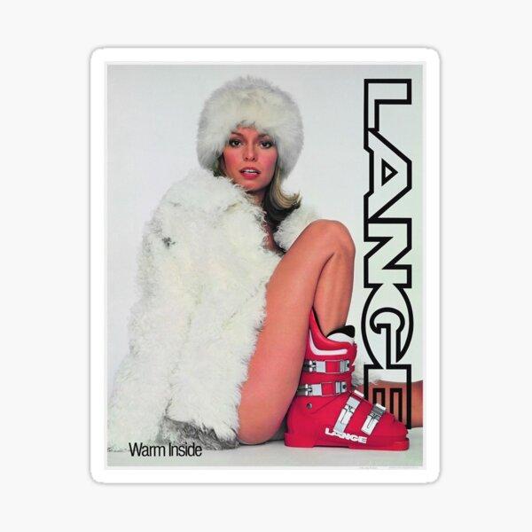 Lange Ski Girl - Warm Inside Sticker