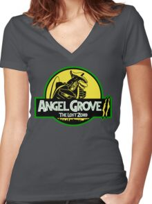 Angel Grove II: The Lost Zord Women's Fitted V-Neck T-Shirt