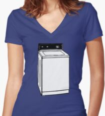 Youthless Washing Machine Women's Fitted V-Neck T-Shirt