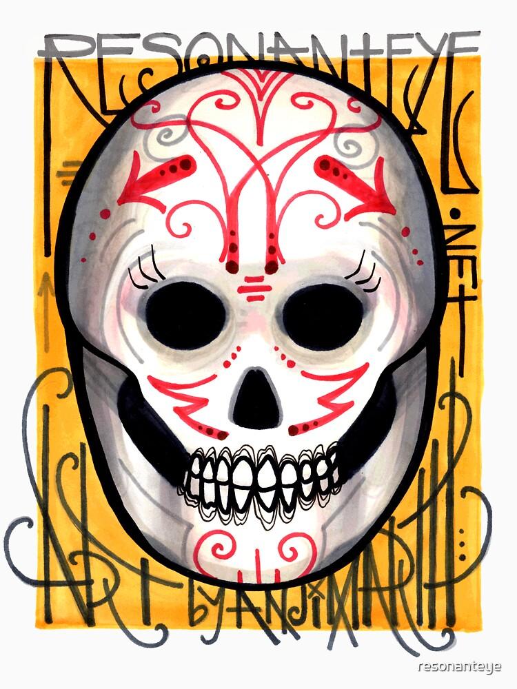 resonanteye sugar skull shirt by resonanteye