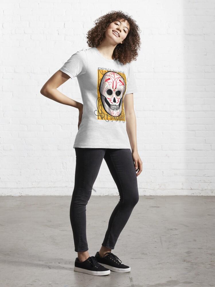 Alternate view of resonanteye sugar skull shirt Essential T-Shirt