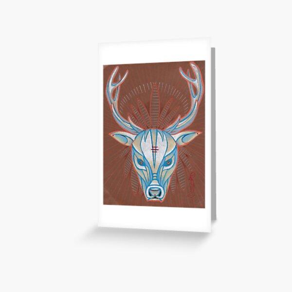 blue elk totem spirit animal. Greeting Card