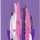 Purple candles-2 by Mara Irbe